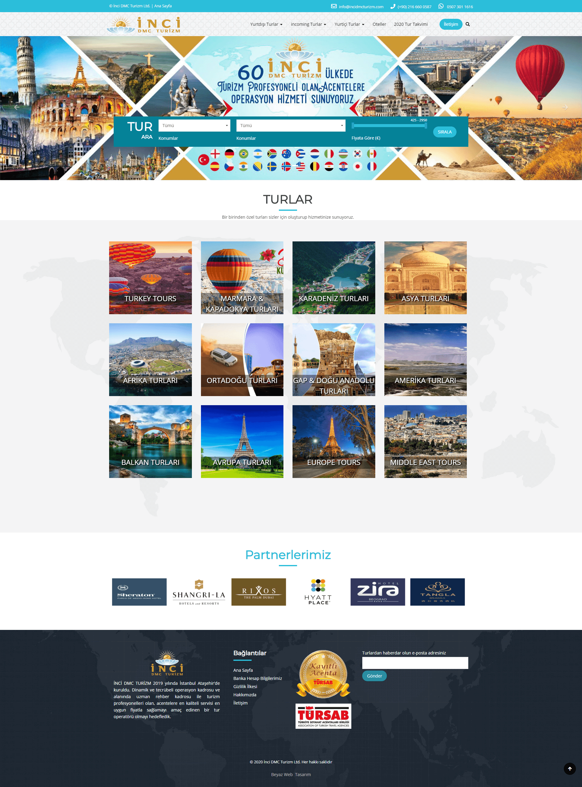 seyahat acentası web sitesi