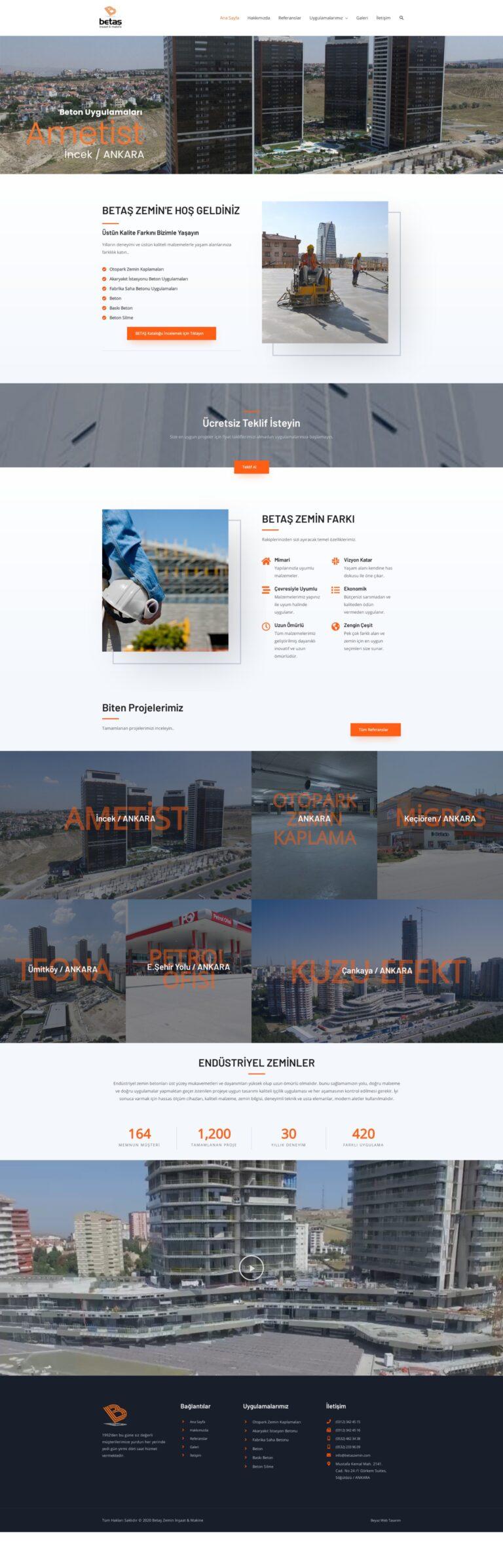 betaş zemin web tasarım örneği