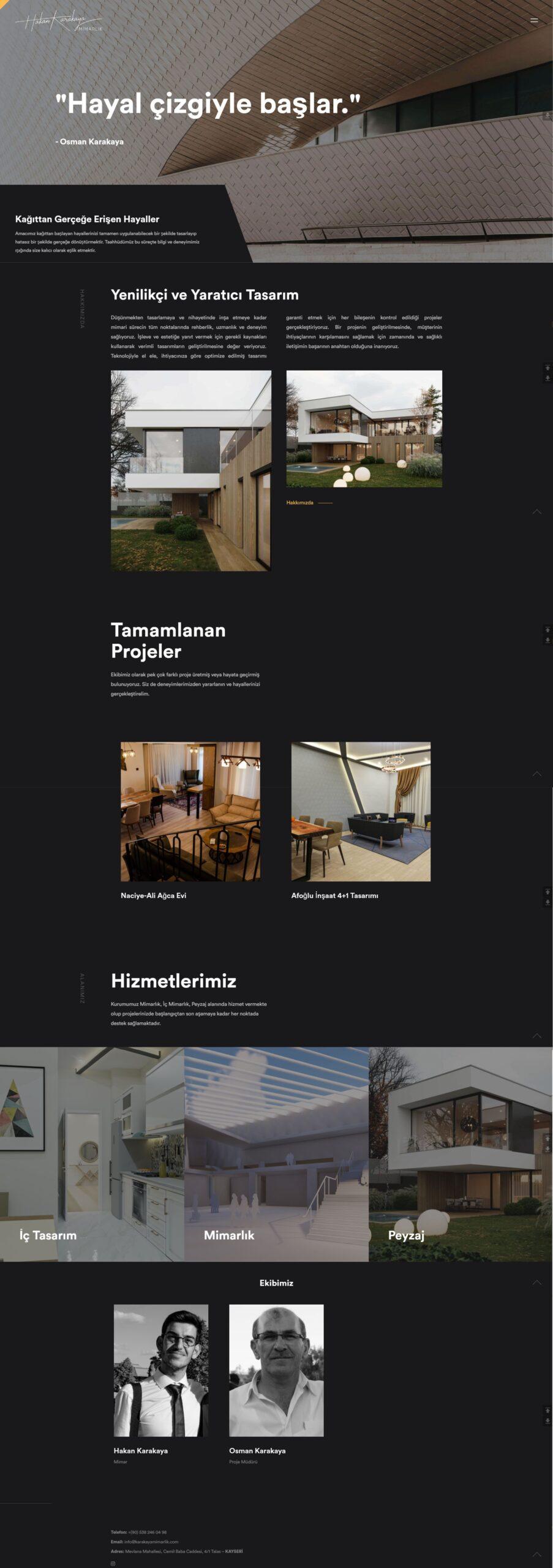 mimarlık web sitesi tasarım