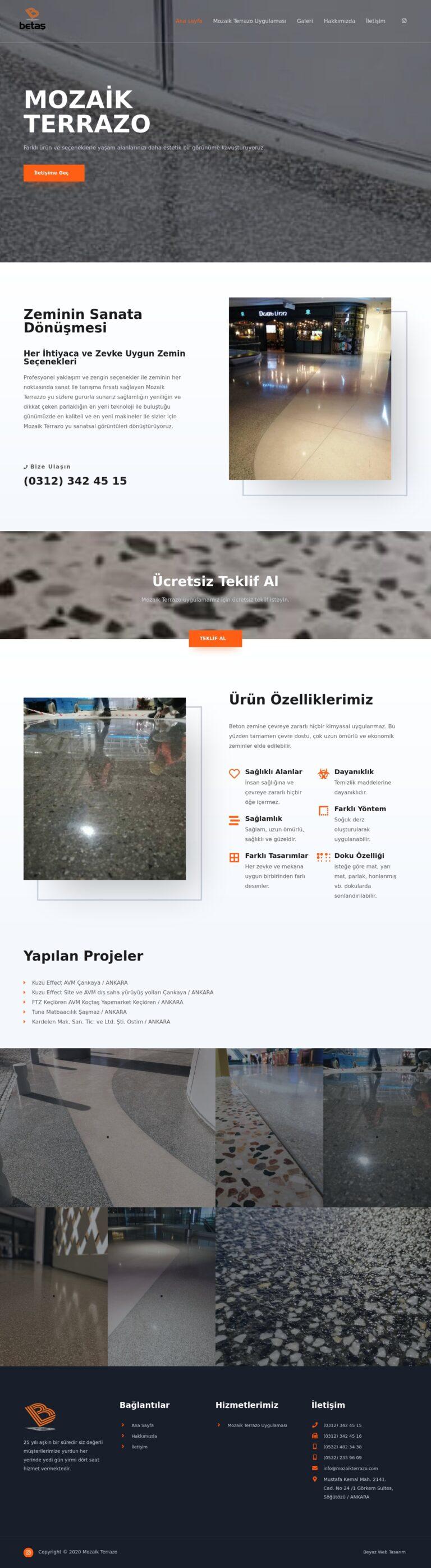 mozaik web sitesi tasarımı