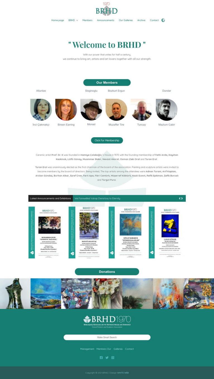 ressamlar derneği web site tasarımı