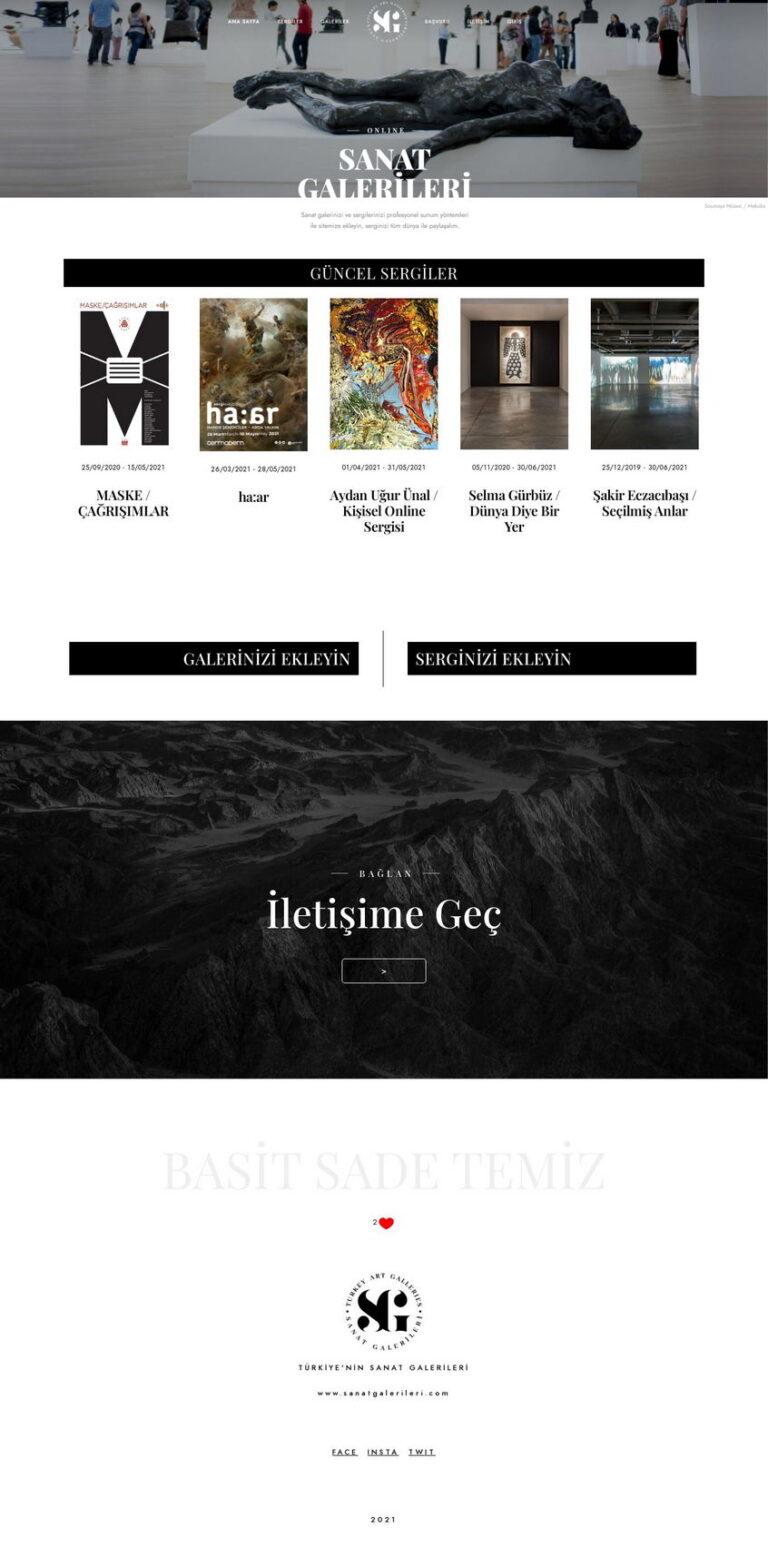sanat galerisi web sitesi